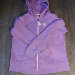 10/50 $ Converse purple hoodie for girl XL